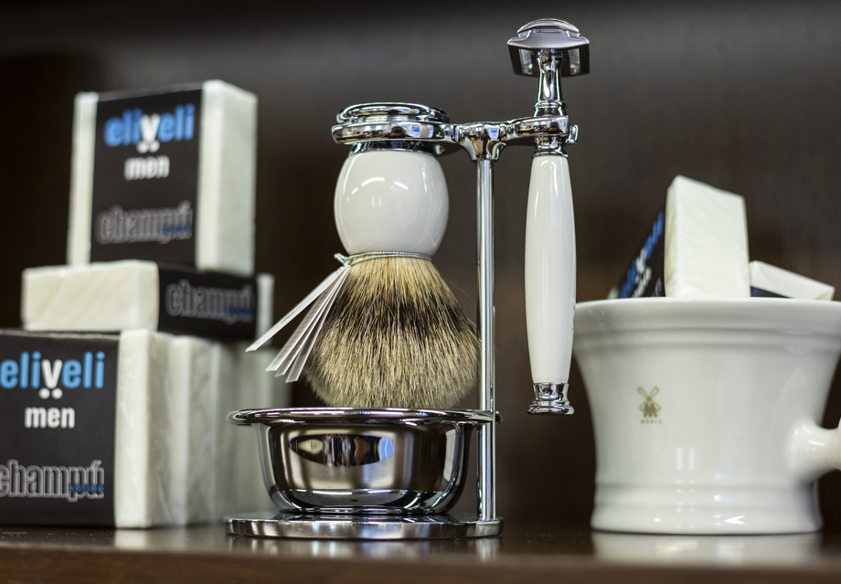 Specialized products for classic shave, brushes and soaps, beard care creams, razors and professional shaving kits.