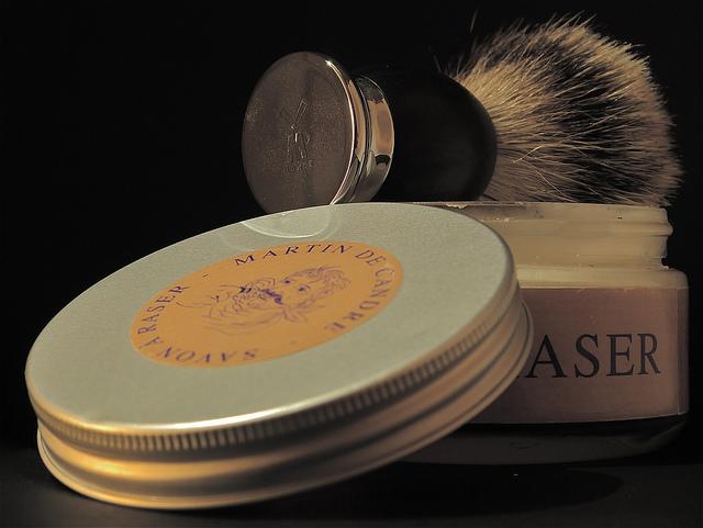Jabón de afeitar o crema de afeitar
