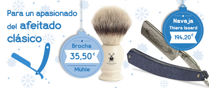 Ideas para regalos para hombres: afeitado clásico