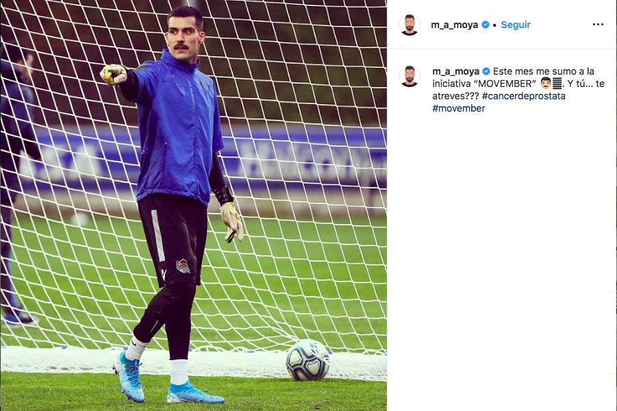Captura de Instagram de Miguel Ángel Moya, portero de la Real Sociedad.