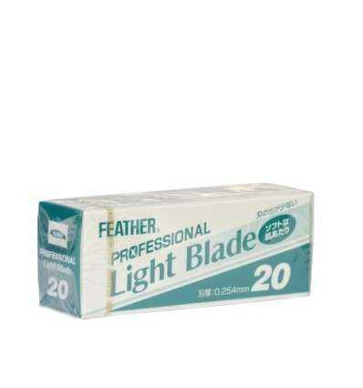 Cuchillas de Afeitar Feather - Light Blade - Dispensador 20 Cuchillas - comprar online elivelimenshop