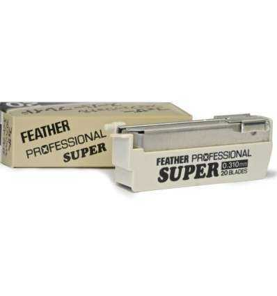 Cuchillas de Afeitar Feather - Super Profesional - Dispensador 20 Cuchillas - comprar online elivelimenshop