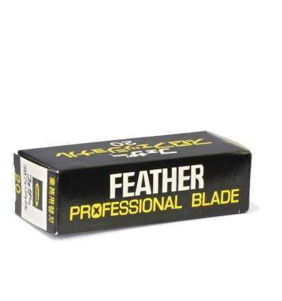Cuchillas de Afeitar Feather - Professional - Dispensador 20 Cuchillas - comprar online elivelimenshop