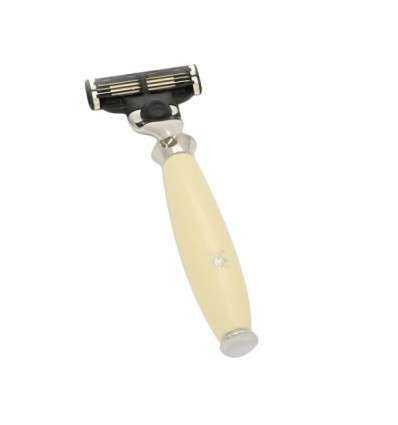 Maquinilla de Afeitar Mühle Purist Crema Cabezal Mach 3 Comprar en Elivelimen Shop. Tienda online de Maquinillas de afeitar clás