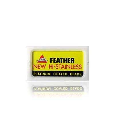 Cuchillas de Afeitado Clásico Feather - Platinum Coated Blade Comprar en Elivelimen Shop. Tienda online de Cuchillas.