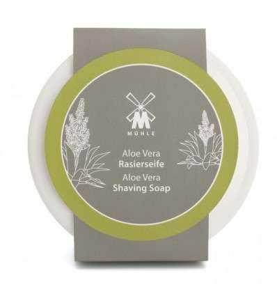 Jabón de Afeitar Mühle - Aloe + Jabonera de Porcelana Comprar en Elivelimen Shop. Tienda online de Jabones y cremas de afeitar.
